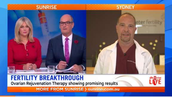 Dr David Knight on Sunrise discussing Ovarian Rejuvenation Therapy